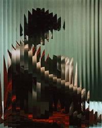 erwin-blumenfeld-lisette-behind-fluted-glass,-new-york