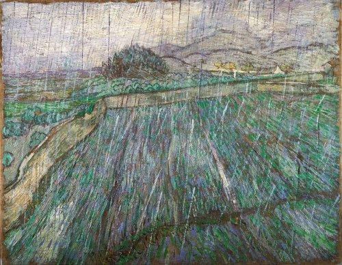 Vincent Van Gogh, Campo di grano sotto la pioggia